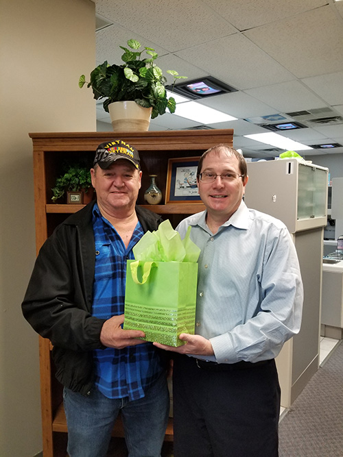 Congratulations to our lucky patient, Darrell. He was the winner of our Thanks-a-Latte Drawing held on March 4th. He received a Starbucks gift card in a gift bag with Starbuck's goodies.