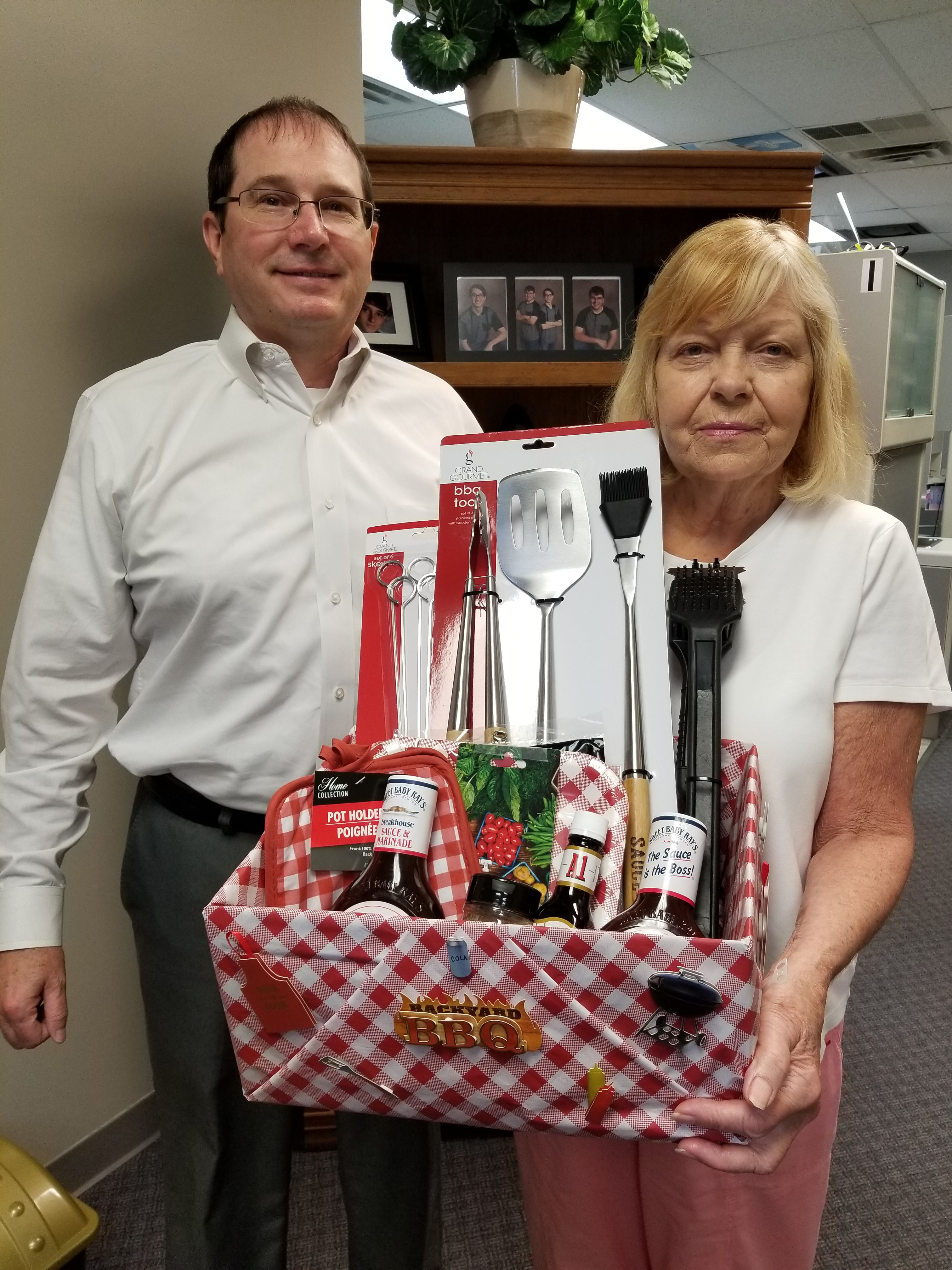 Congratulations to our lucky patient, Margaret. She was the winner of our Patient Appreciation Drawing for a BBQ Gift Basket held on August 13, 2018. She received an assortment of grilling supplies and a $25.00 gift card for Strack and Van Til.