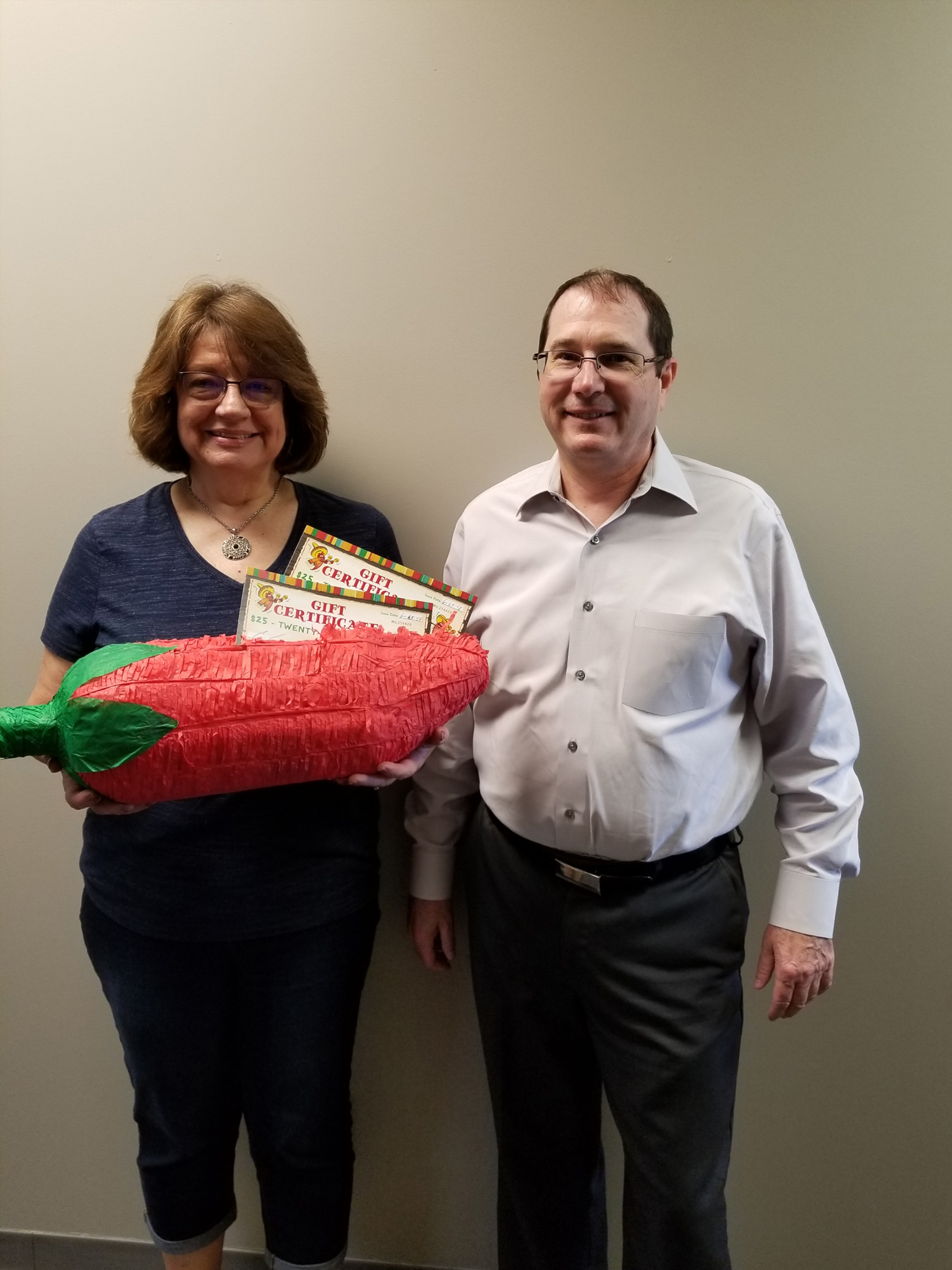 Congratulations to our Patient Appreciation contest winner Kathleen. She received a Fifty dollar gift