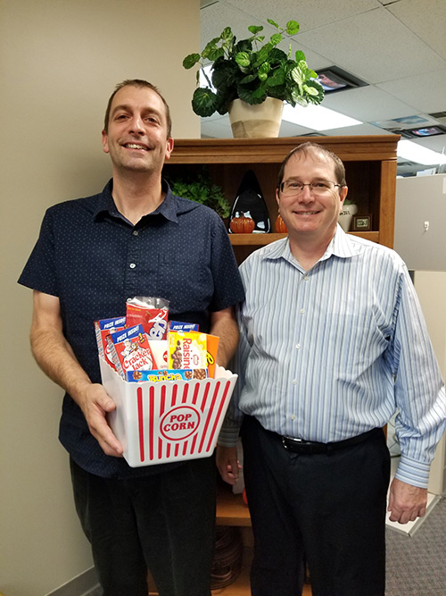 Congratulations to our lucky patient, Steve. He was the winner of our Patient Appreciation Drawing for a Movie Night held on October 1, 2018. He received an assortment of candy and a gift card for AMC Showplace.